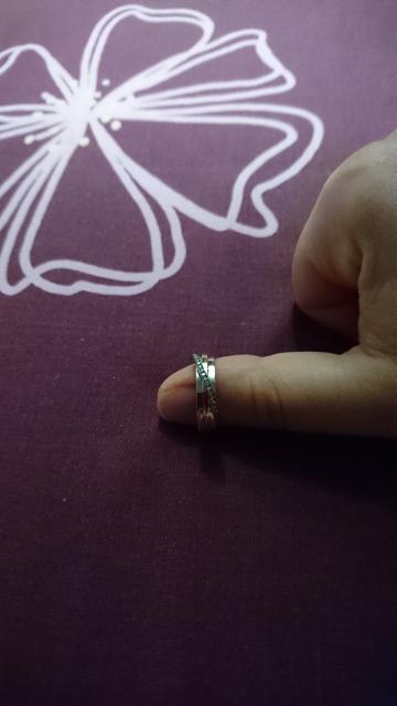 Кольцо белое золото с брилиантами