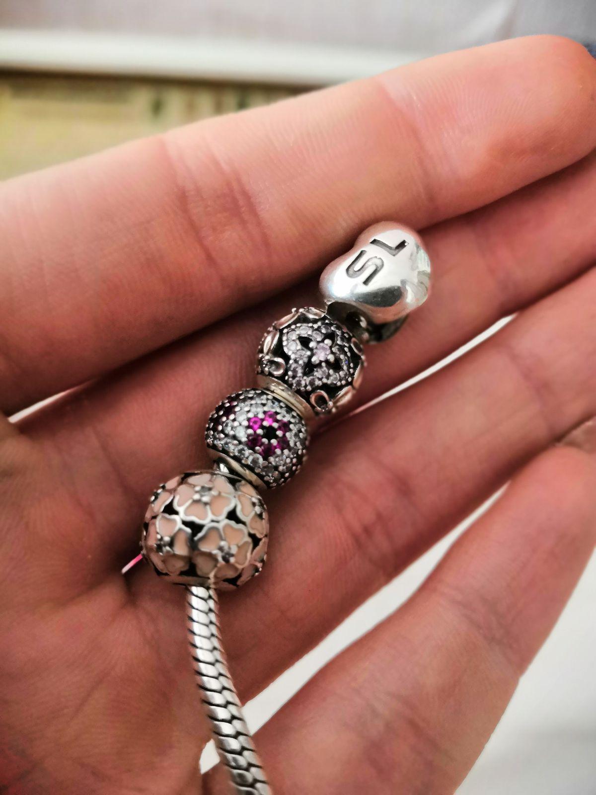 Серебряный браслет для шармов с застёжкой-сердцем❤️