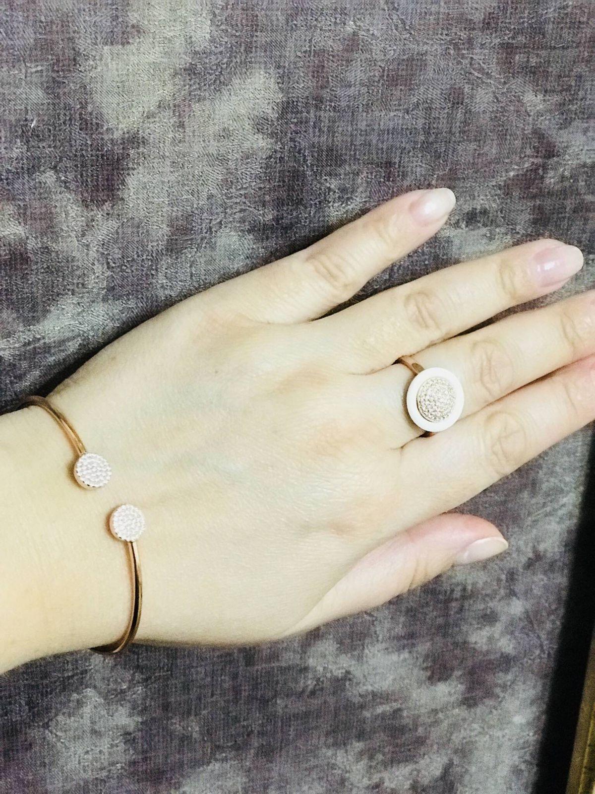 Красивый серебрянный браслет с позолотой