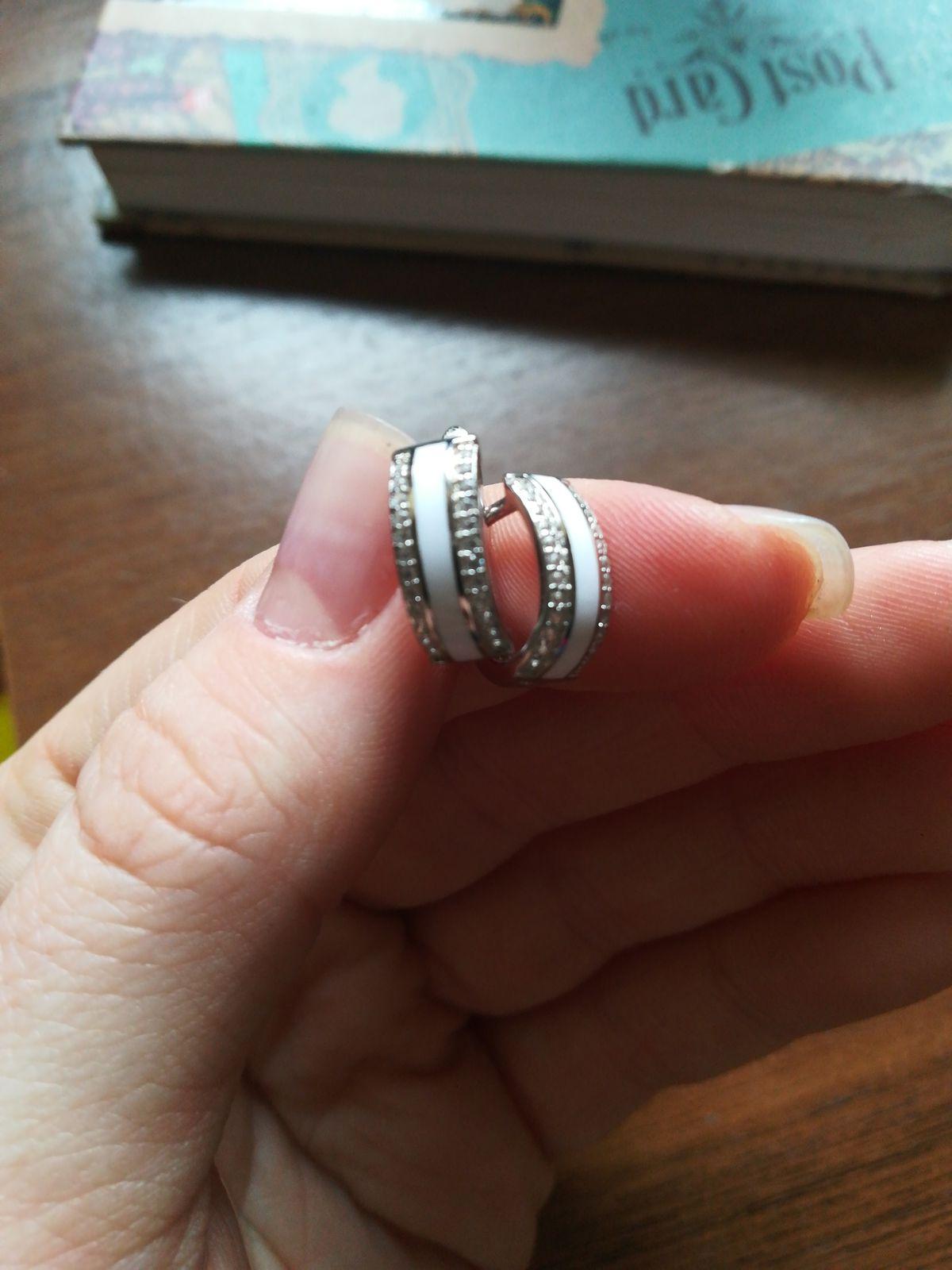 Серьги из серебра с керамикой