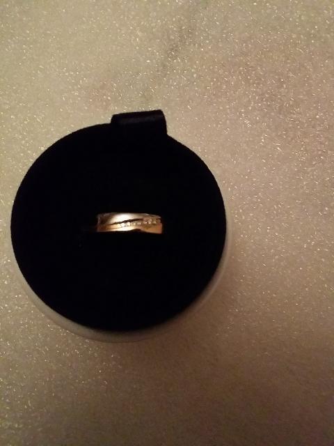 Колечко двух цветное с 7 маленькими бриллиантами
