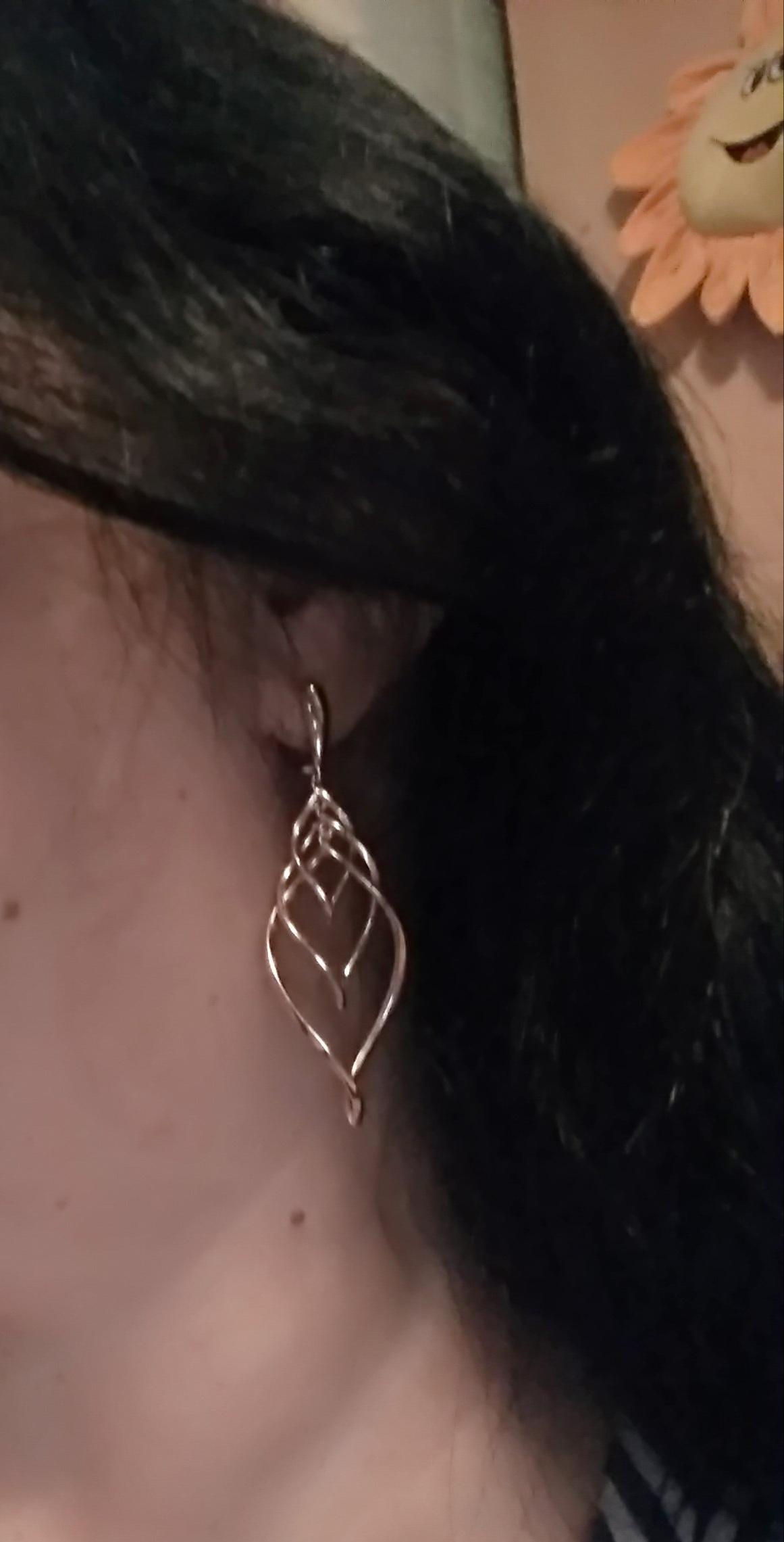 Серебряные сережки с позолотой