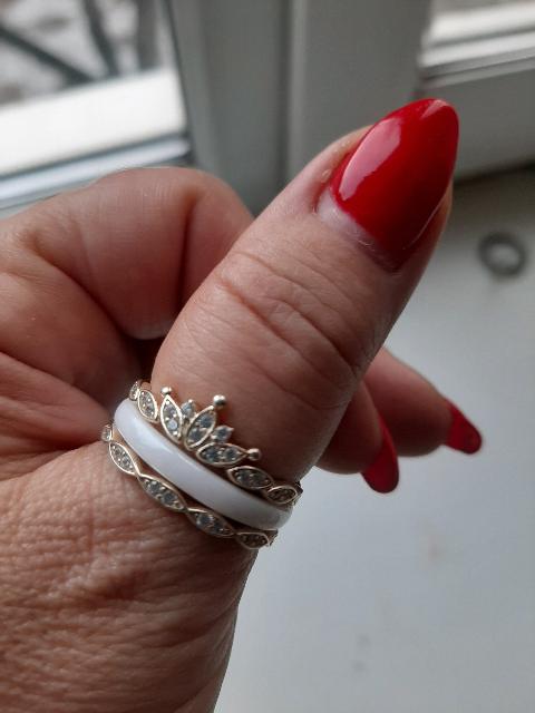 Кольцо серебряное с эмалированной вставкой