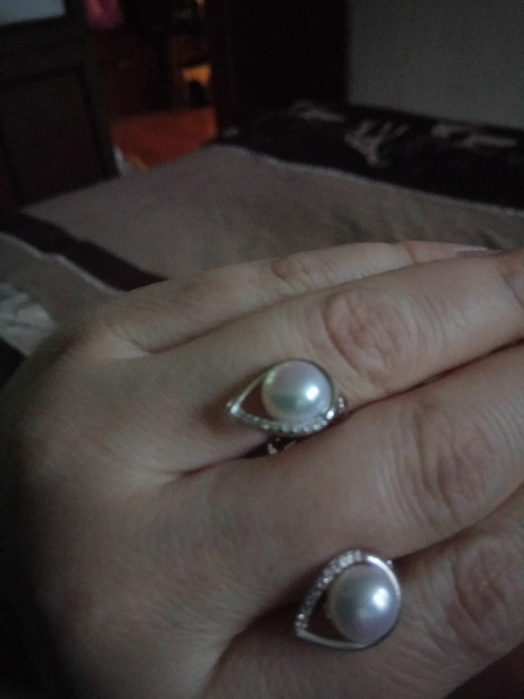 Серьги серебро. С жемчугом.