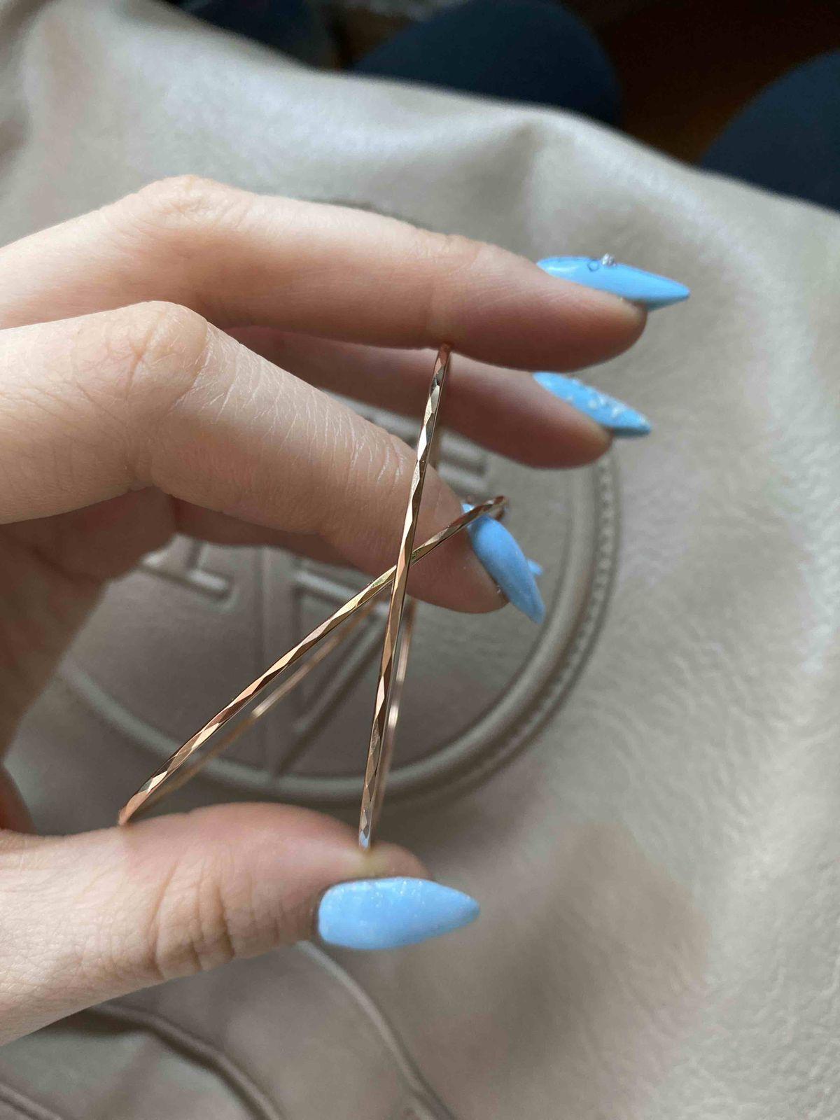 Золотые серьги-кольца, о которых я мечтала!