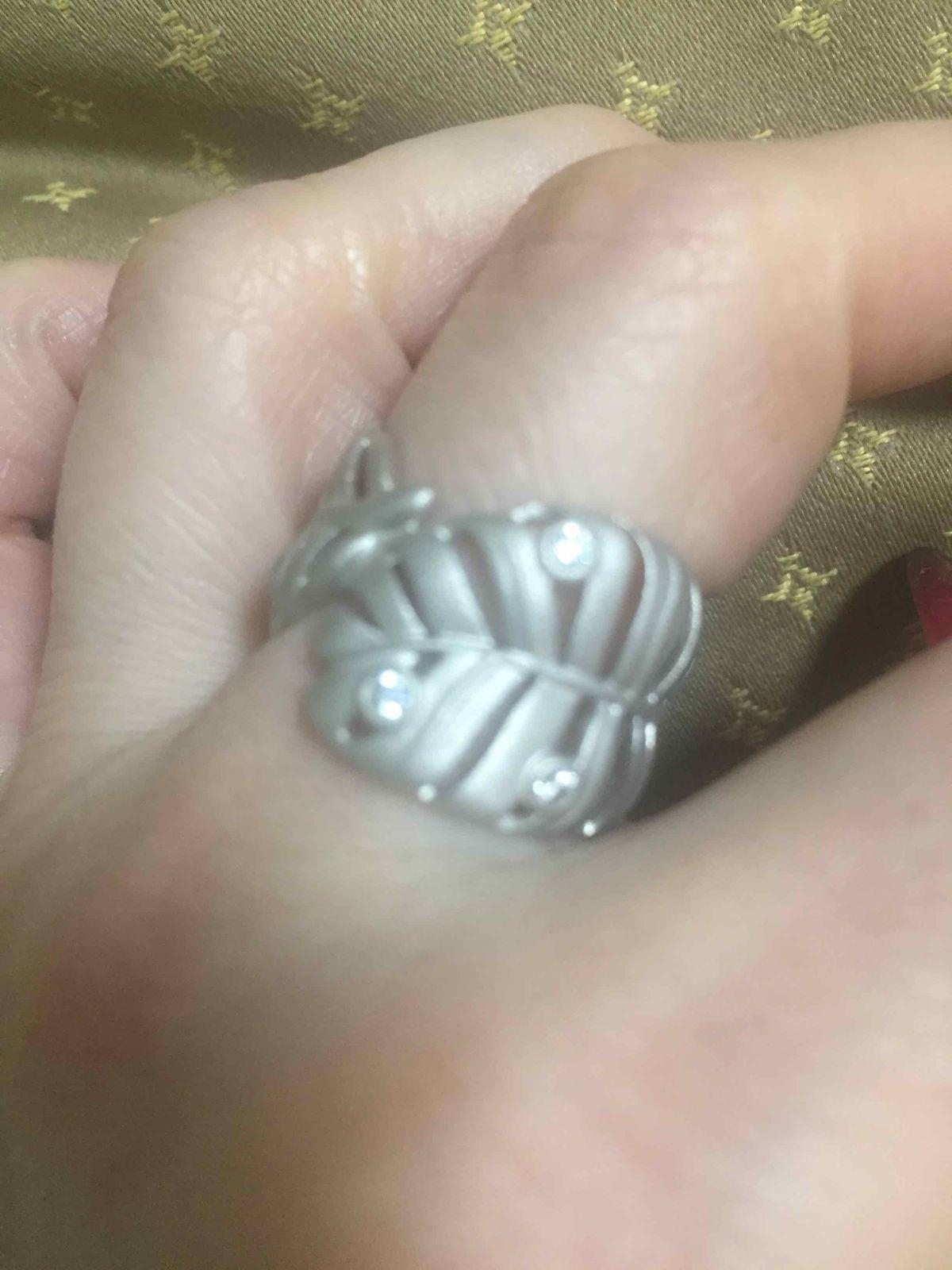 Колечко из матового серебра