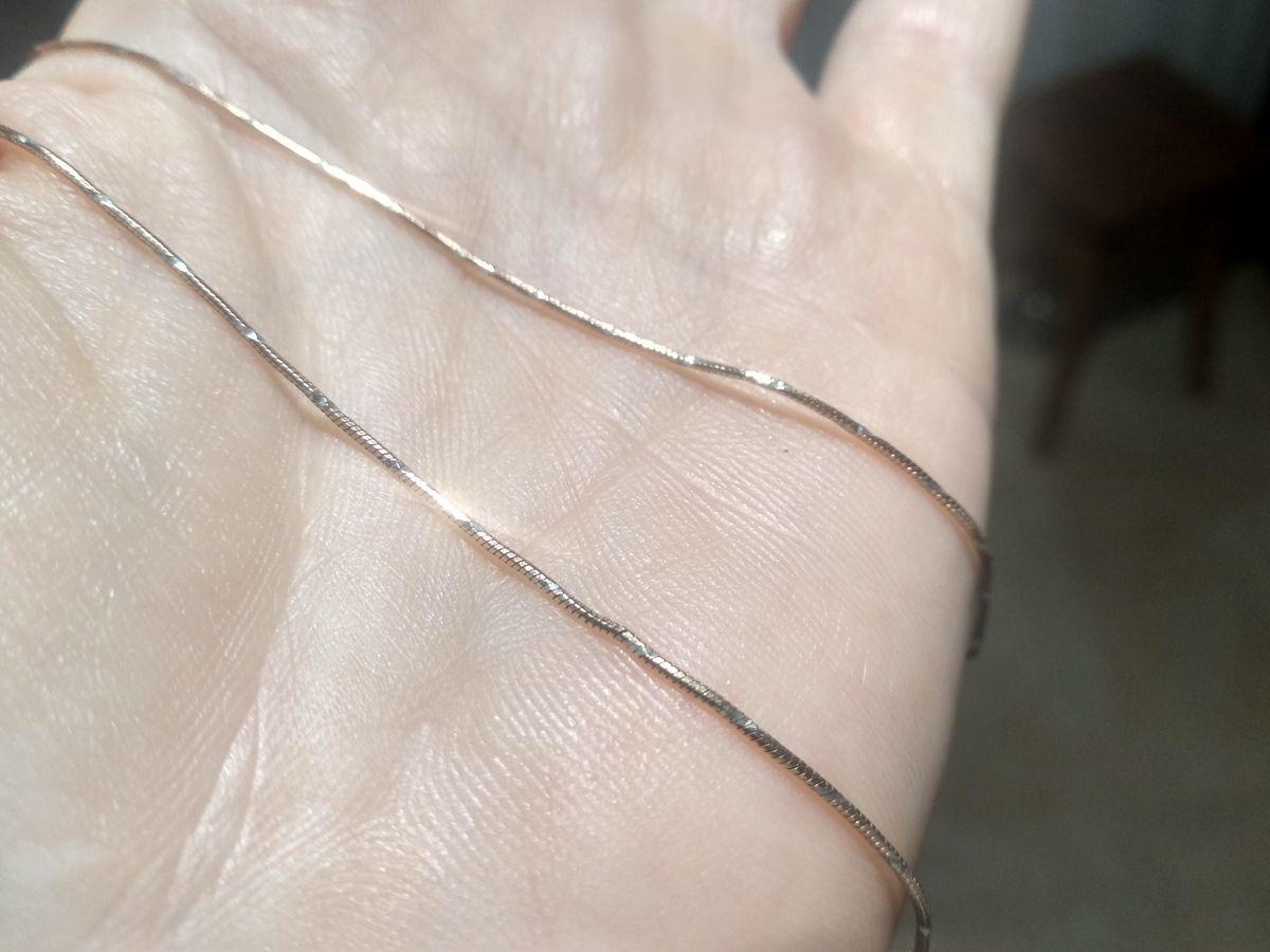 Серебряная цепь с золотым напылением