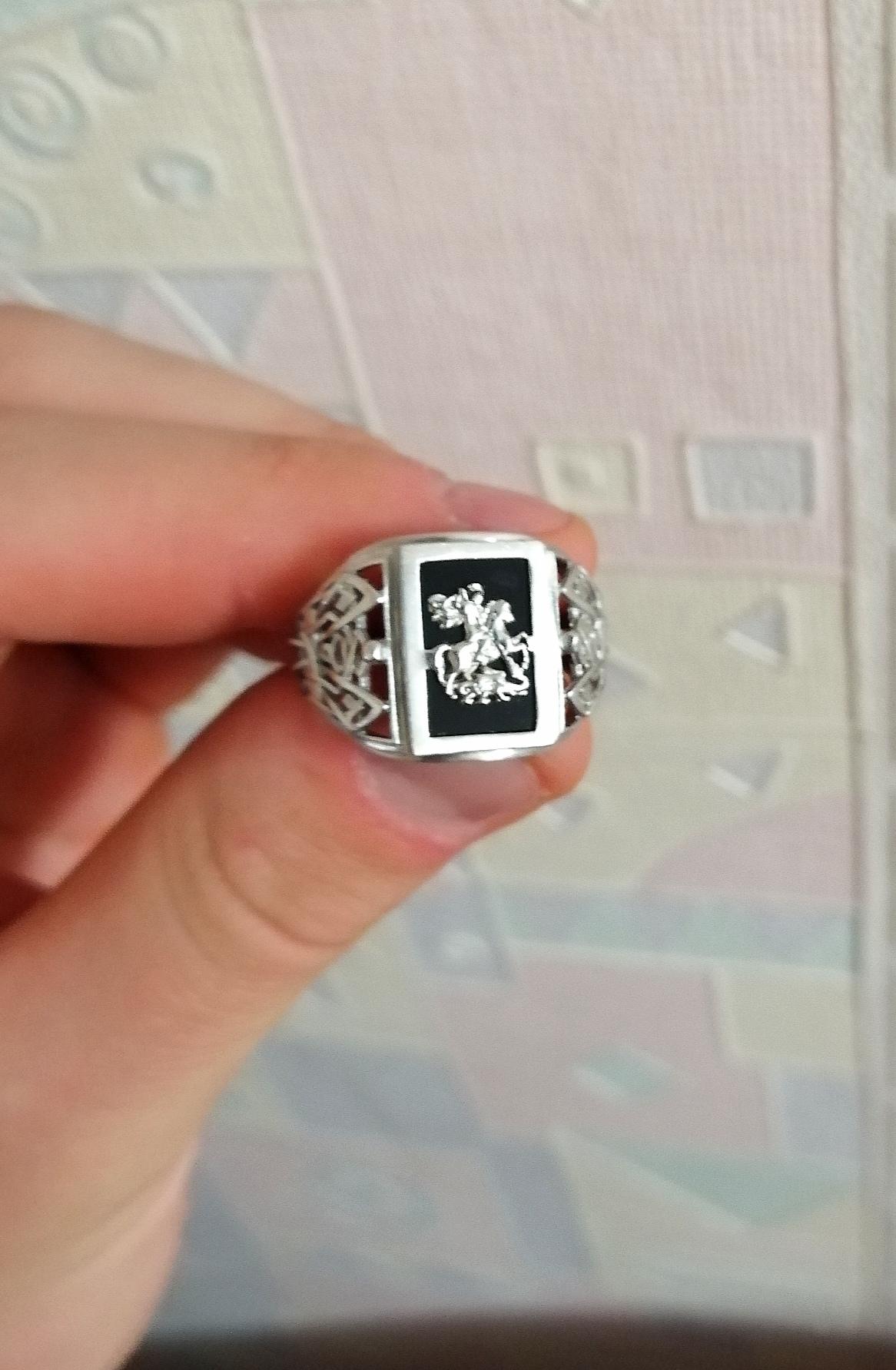 Кольцо со светлым Георгием