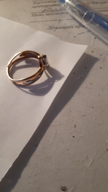 Размер 19 серебро с позолотой