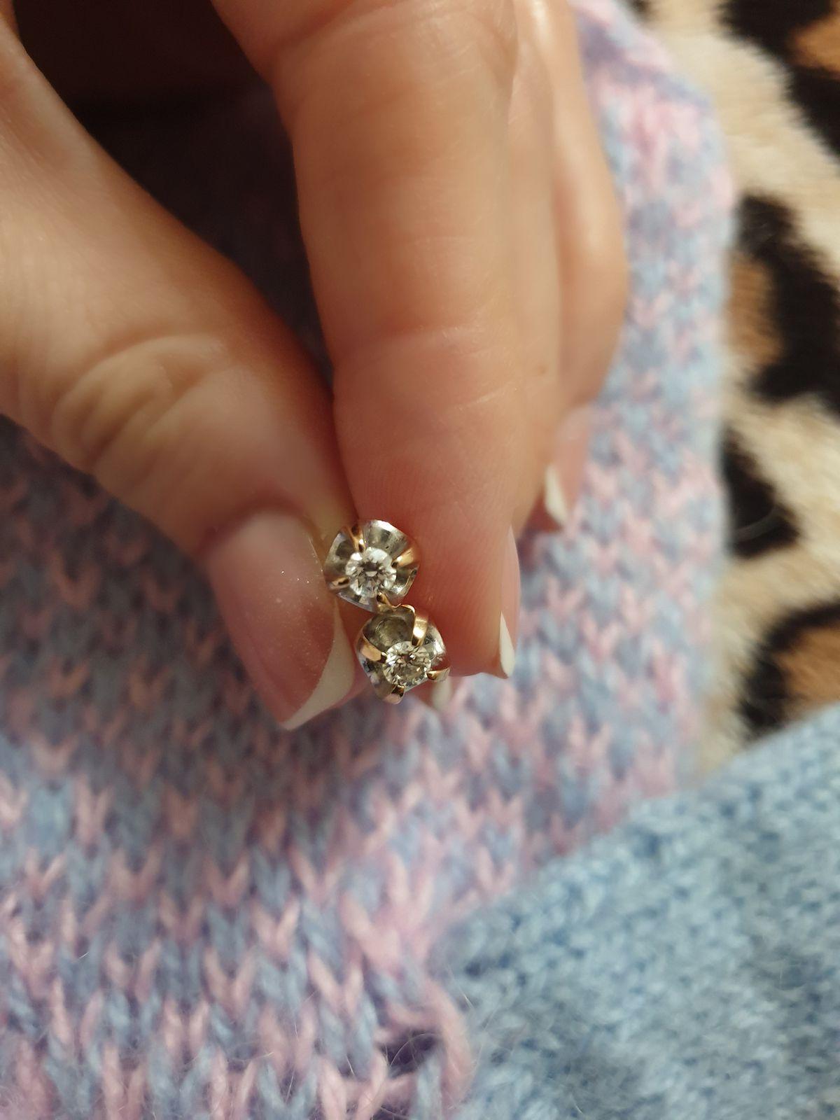 Серьги из коллекции бриллианты Якутии!