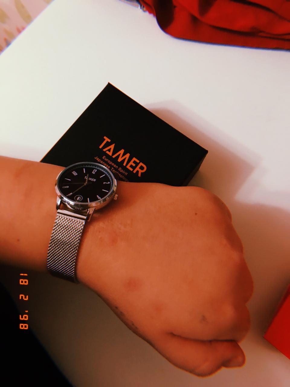Часы с синим корпусом