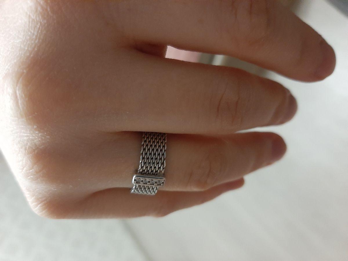 Серебряное мягкое кольцо