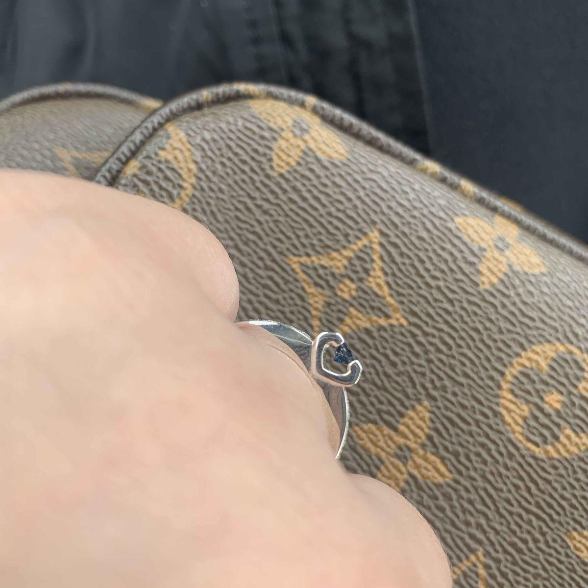 Кольцо с бриллиантами и сапфиром-мечта!