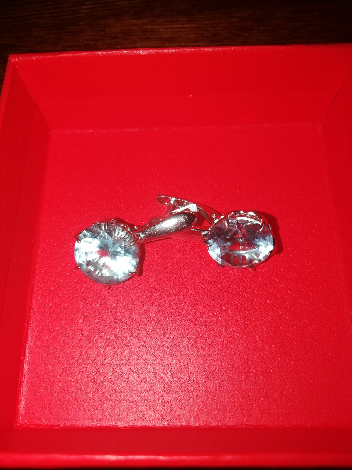 Серебряные серьги с голубым камнем