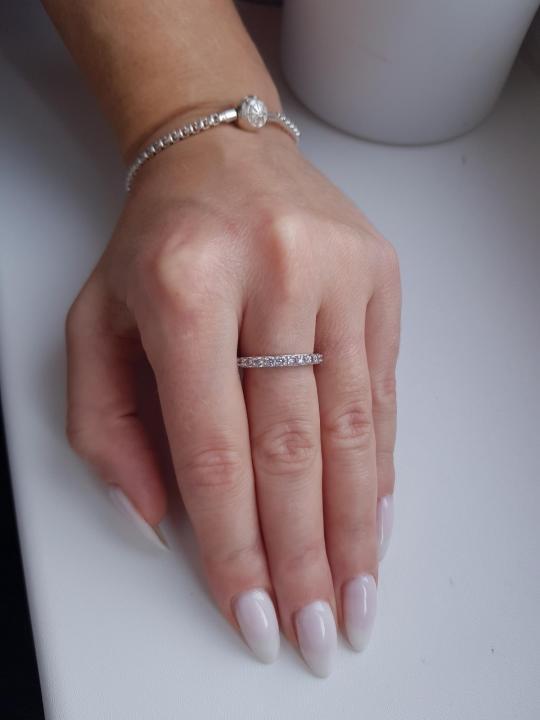 Серебряное кольцо с фианитами🤩🤪