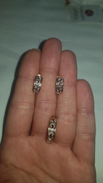 Серьги с бриллиантами!
