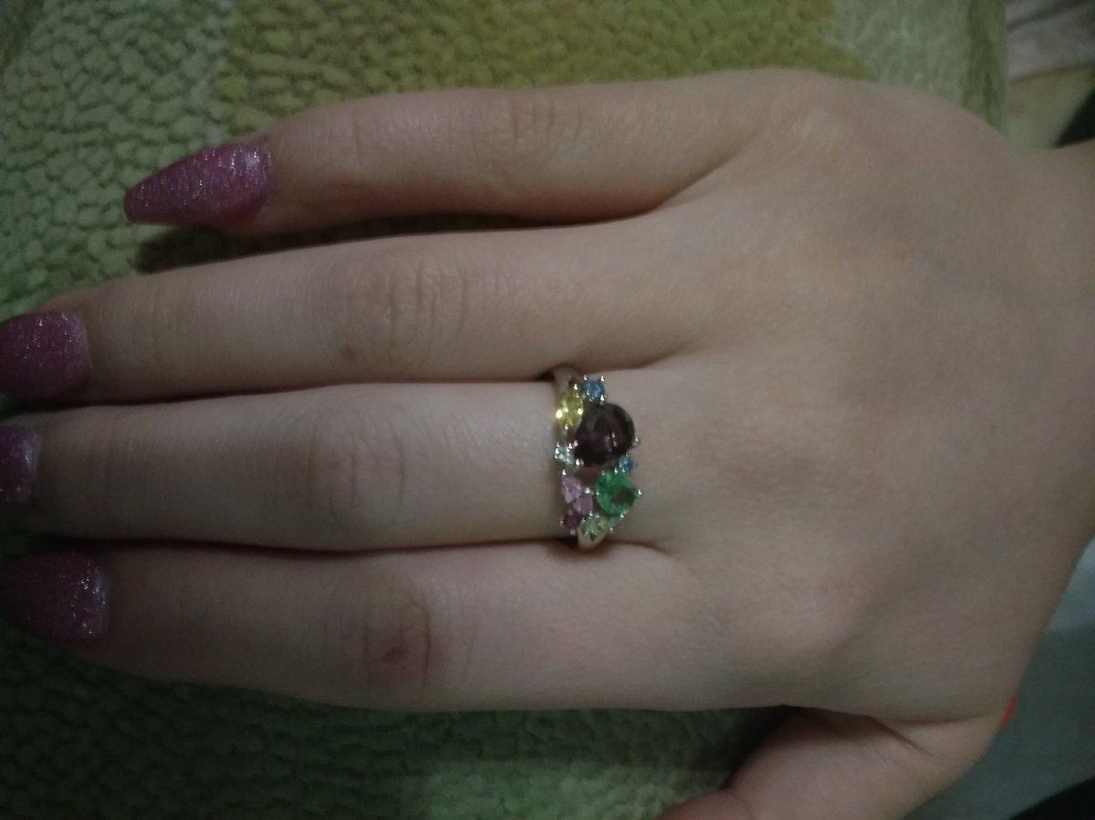 Кольцо серебро с камнями