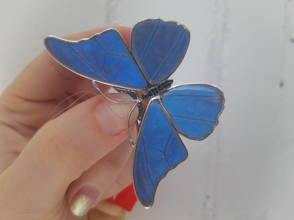 Брошь-бабочка.