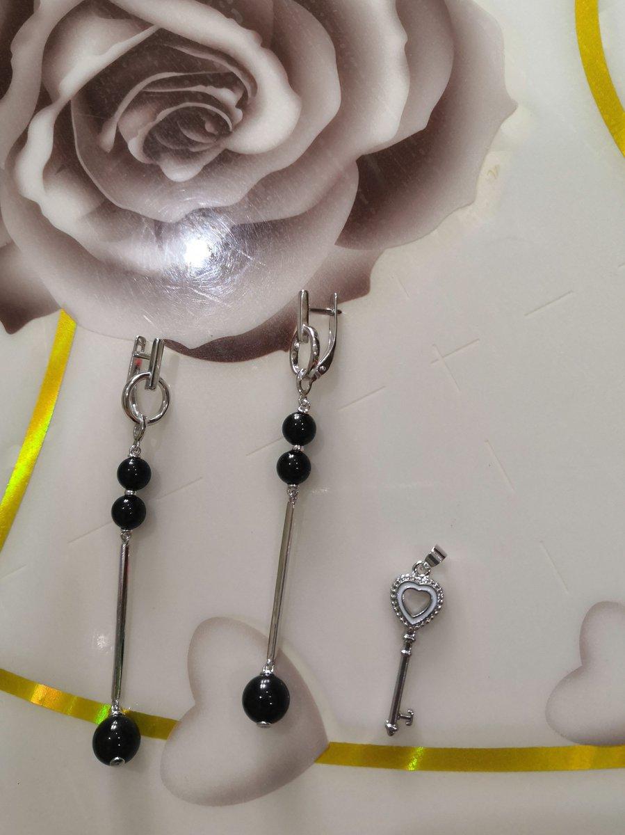 Серебряные серги и подарок ключек