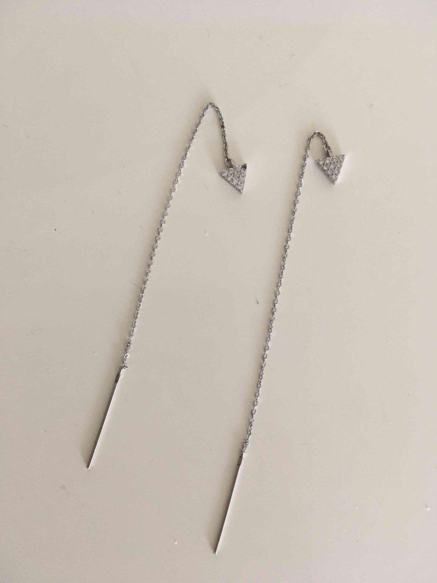 Серебрянные серьги длинные