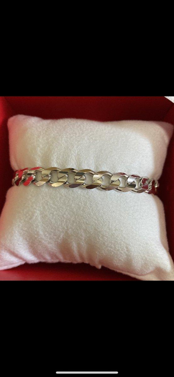 Серебрянный браслет 19см
