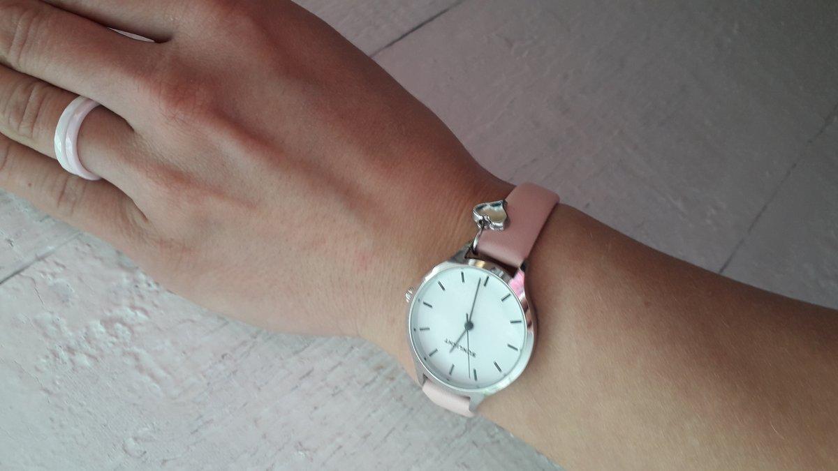 Керамическое колечко розовое и белое