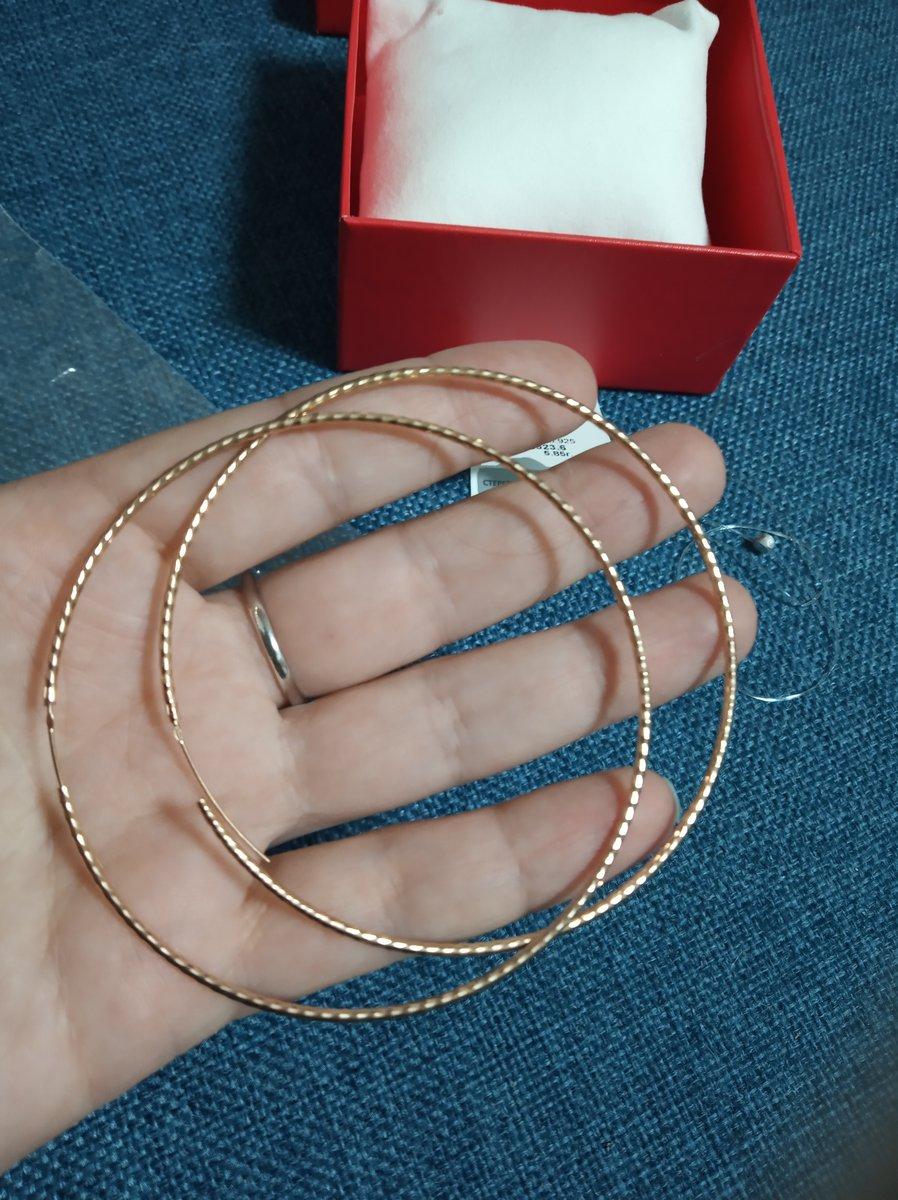 Крупные серьги кольца