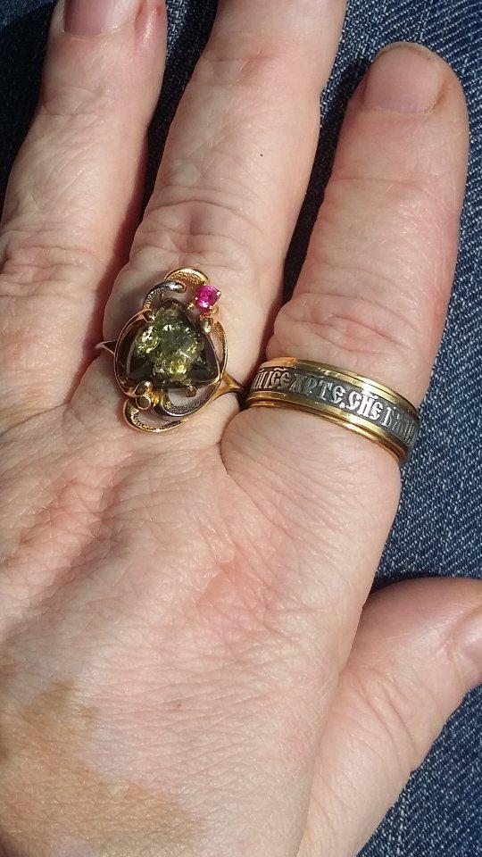 Прекрасное кольцо с молитвой!