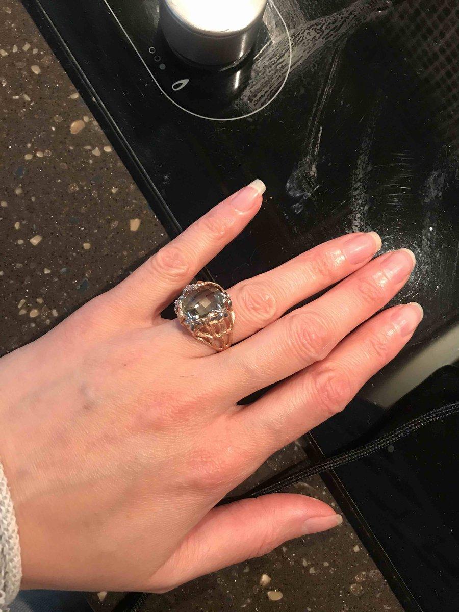 Перстень с амитистом и бриллиантами