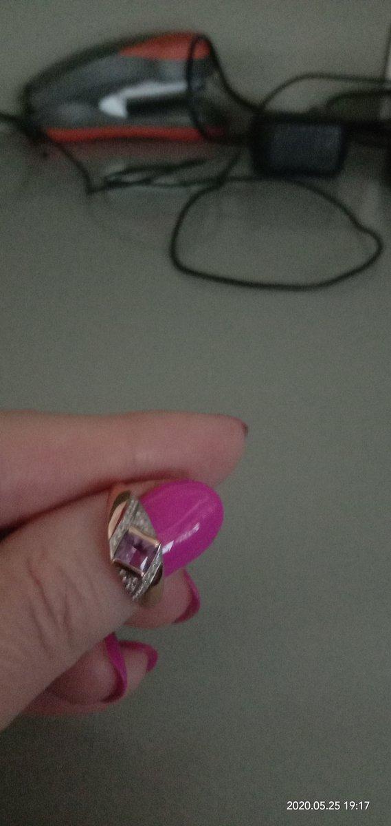 Кольцо с аметитом.