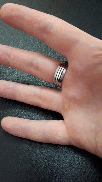 Стальное кольцо, вставка сталь