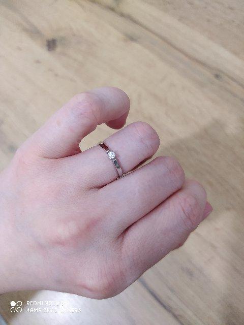 Кольцо, 16 р-р, белое золото.