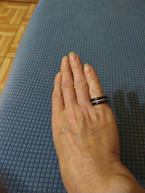 Кольцо три в одном, серебро+керамика.