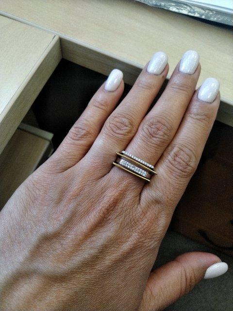 Очень-очень крутое и стильное кольцо!