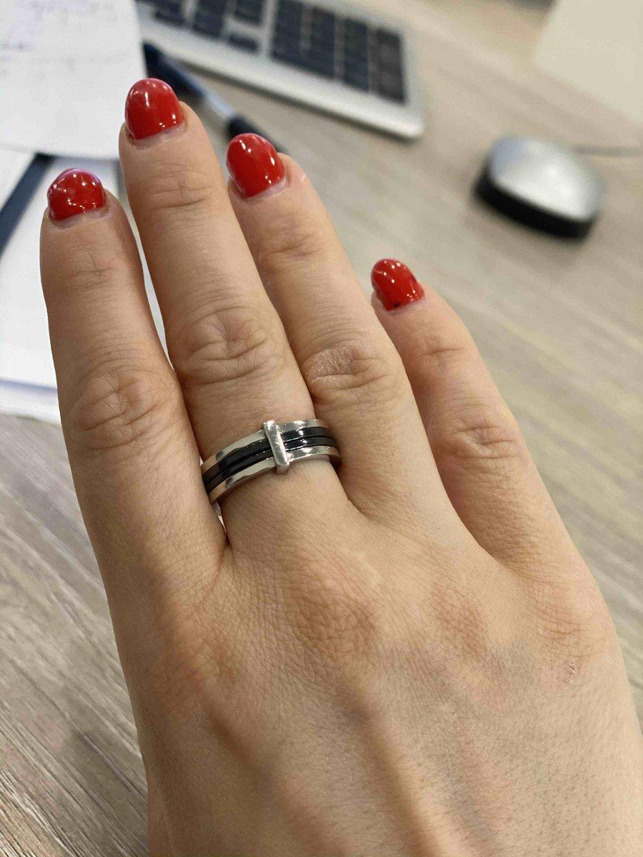 Очень красиво и лаконичное кольцо!