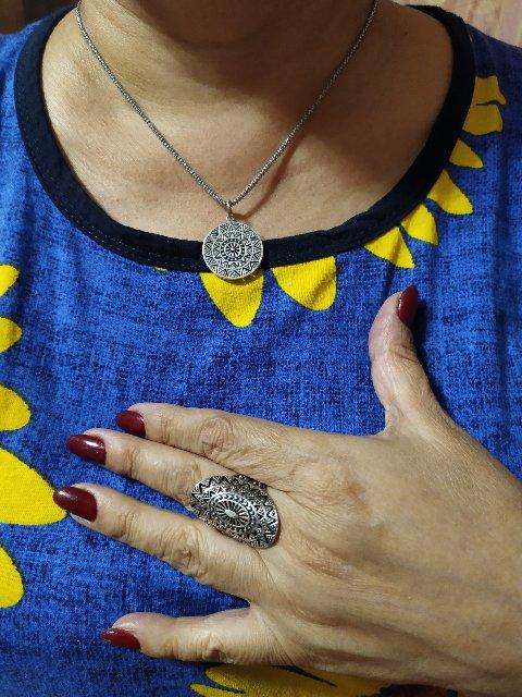 Кольцо в стиле этно.