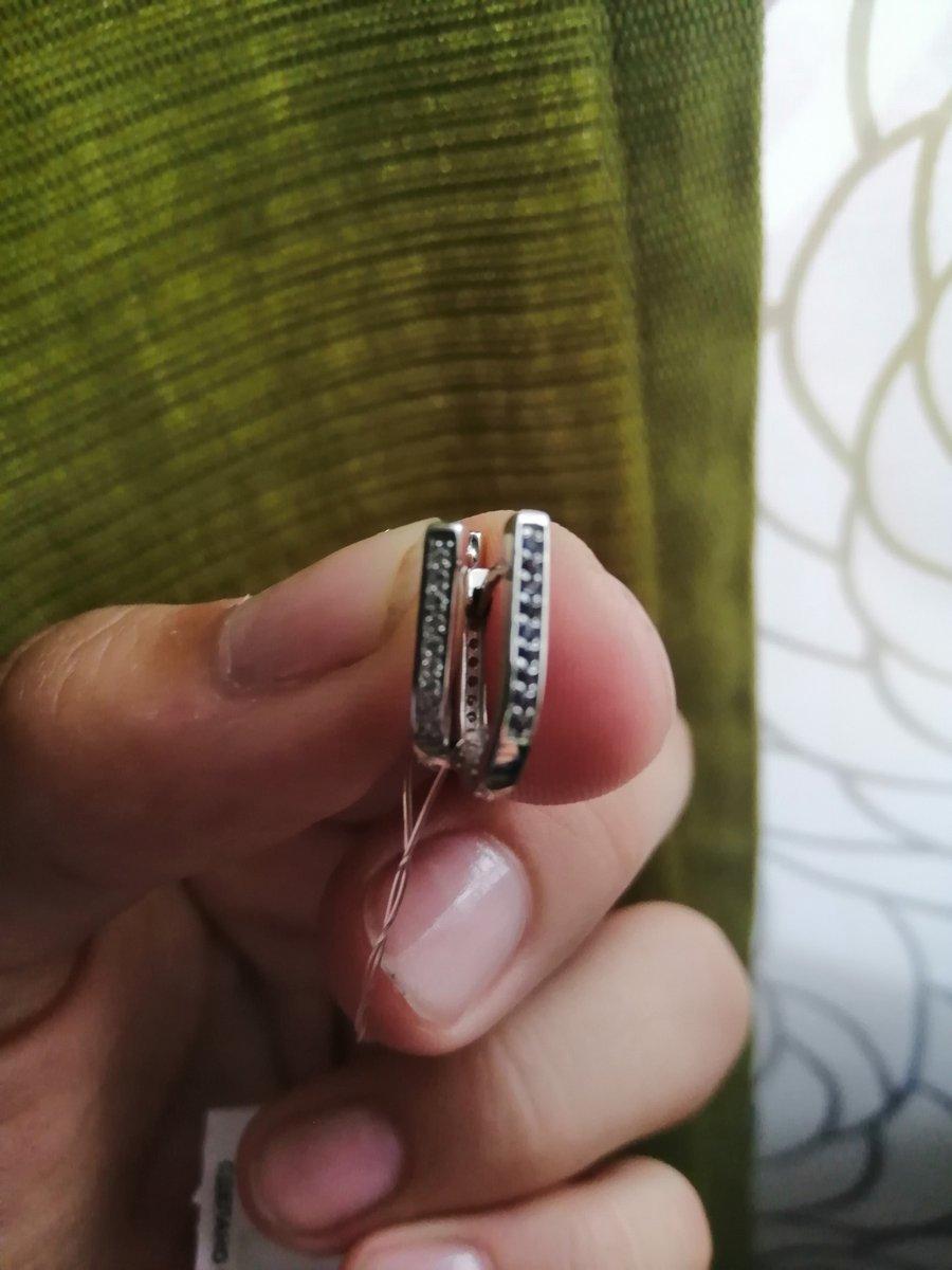 Серьги серебрянные