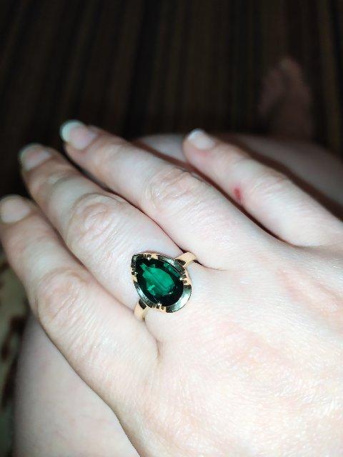 Кольцо с изумрудом .