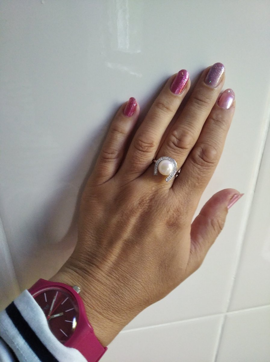 Кольцо с жемчужиной
