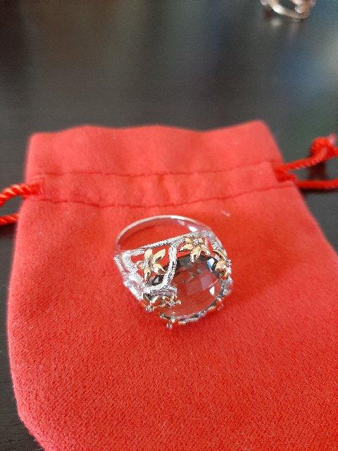 Золотое кольцо с зелёным аметистом