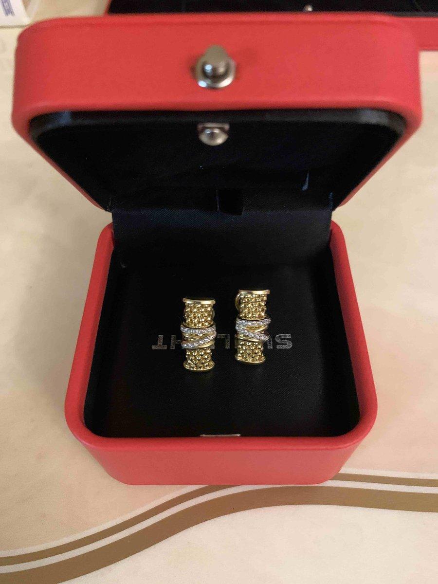 Серебряные серьги с фианитами позолоченные