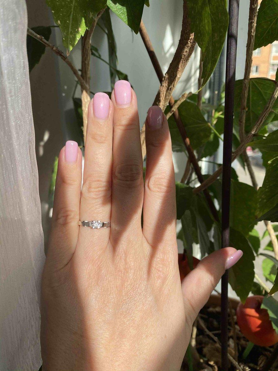 Мое первое кольцо из белого золота !