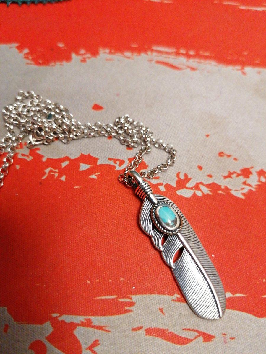 Серебряная подвеска с бирюзой