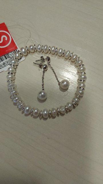Серебреные серьги с жемчугом