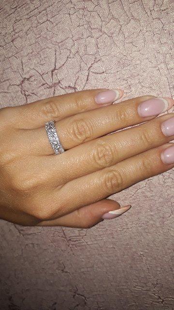 Серебряное кольцо вставка фианит