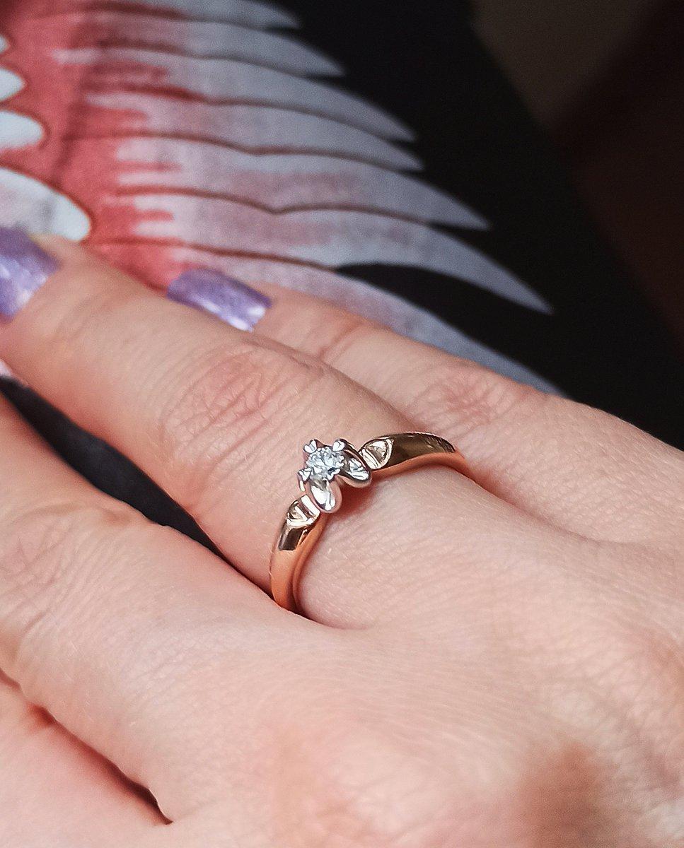 """Золотое кольцо """" бриллианты якутии"""""""