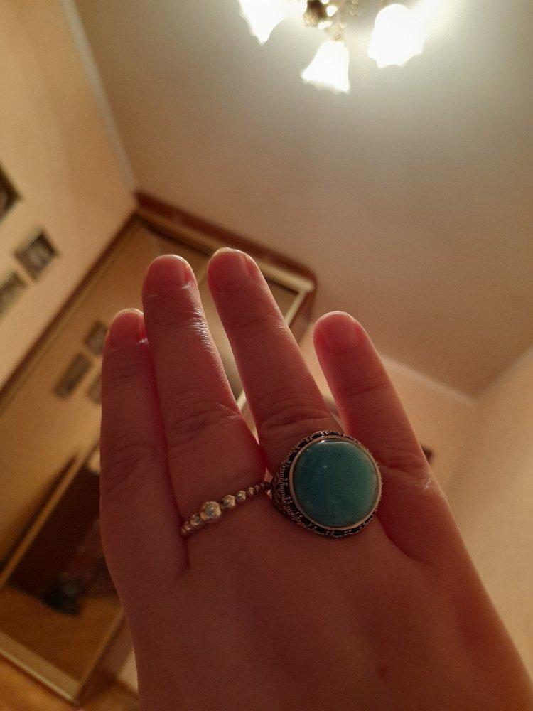 Купила кольцо с натуральным амазонитом