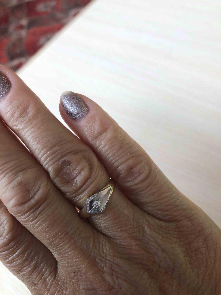 Кольцо с брилланоми