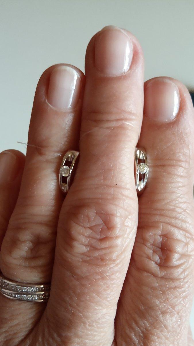 Серьги с якутскими бриллиантами