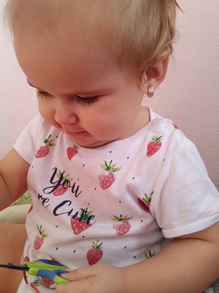 Золотые сережки (детские)